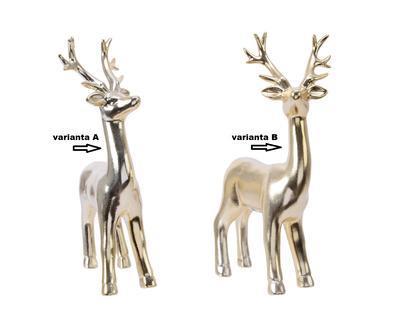 Dekorace JELEN, zlatý, 14x7x24cm, 2 druhy, Kaemingk