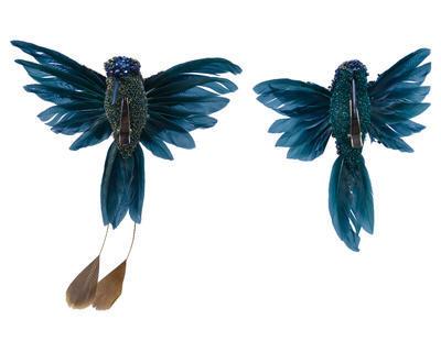 Kolibřík na klipu, 2 druhy, modrý, Kaemingk - 1