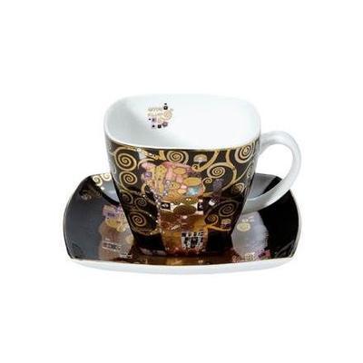 Šálek a podšálek ARTIS ORBIS G. Klimt - Fulfilment - 250 ml, Goebel