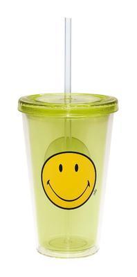 Sklenice s víkem ICE SMILEY 490 ml - zelená, Zak!