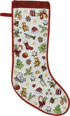 Vánoční punčocha na dárky X-MAS PRESENTS 21x48 cm - original, Sander