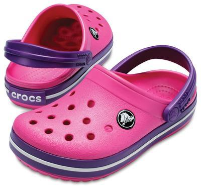 Boty CROCBAND CLOG KIDS J3 paradise pink/amethyst, Crocs - 1