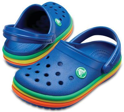 Boty CB RAINBOW BAND CLOG KIDS J1 blue jean, Crocs - 1