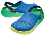 Boty LITERIDE GRAPHIC CLOG M8/W10 blue jean/tennis ball green, Crocs - 1/3