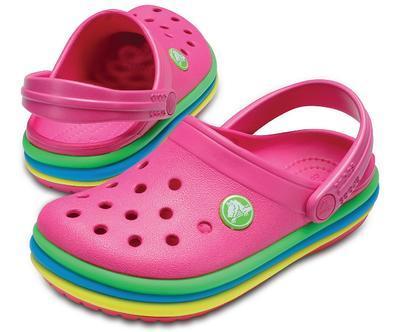 Boty CB RAINBOW BAND CLOG KIDS J2 paradise pink, Crocs - 1