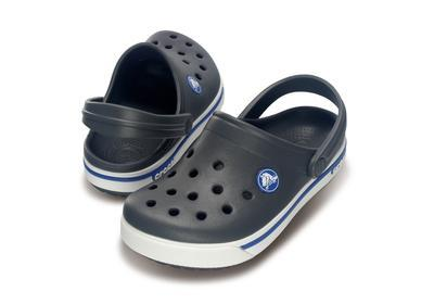 Boty CROCBAND II.5 CLOG KIDS C8/9 charcoal/sea blue, Crocs - 1