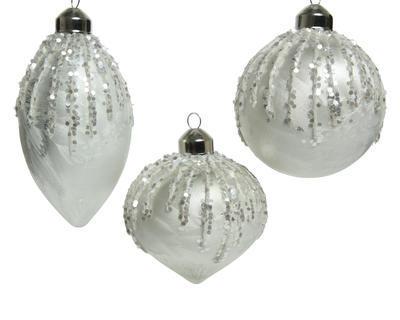 Vánoční ozdoba, 8cm, oliva/ cibule/ baňka, Kaemingk - 1