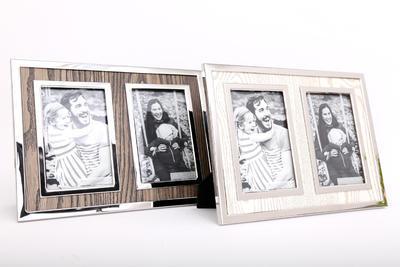 Fotorámeček DOUBLE 11x16cm, 2 druhy, hnědý/krémový, Sifcon