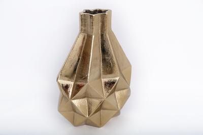 Dekorativní váza GEOMETRIC, 31cm, zlatá, Sifcon
