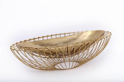 Dekorativní miska, 58cm, zlatá, Sifcon