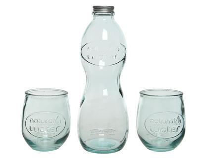 Lahev s uzávěrem + 2ks sklenic v dárkovém balení, Kaemingk