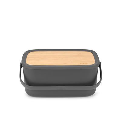 Chlebník s prkénkem, tmavě šedý, Brabantia    - 1