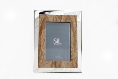 Fotorámeček SILVER / WOODEN 17x22 cm, Sifcon