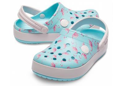Boty CROCBAND MULTIGRAPHIC CLOG KIDS C8 ice blue, Crocs - 1