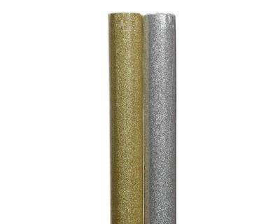 Vánoční balicí papír 150x70 cm - zlatá/stříbrná, Kaemingk