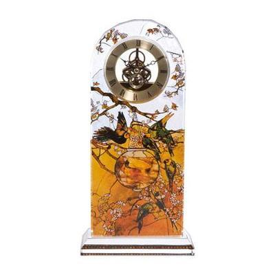 Hodiny stolní ARTIS ORBIS L. C. Tiffany - Parakeets - 32 cm, Goebel