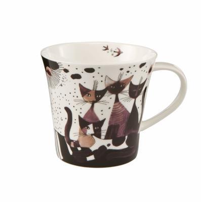 Hrnek na kávu/čaj ROSINA`S CATS - Matalda va a passeggio - 350 ml, Goebel