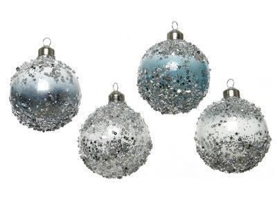 Vánoční ozdoba - Koule SPANGLES 8 cm, Kaemingk