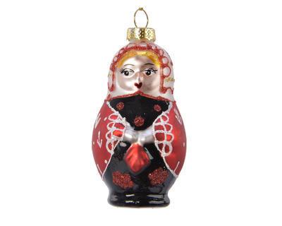 Vánoční ozdoba - MATRJOŠKA 9 cm - multi, Kaemingk