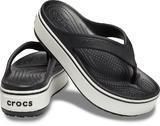 Pantofle CROCBAND PLATFORM FLIP M6/W8 black/white, Crocs - 1/5