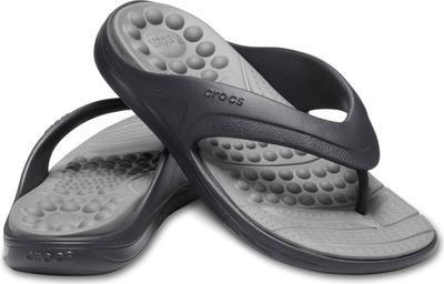 Žabky REVIVA FLIP M8/W10 black/slate grey, Crocs - 1