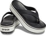 Pantofle CROCBAND PLATFORM FLIP M9/W11 black/white, Crocs - 1/5