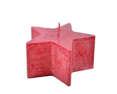 Vánoční svíčka - Hvězda METALLIC 10x5cm - červená, Kaemingk