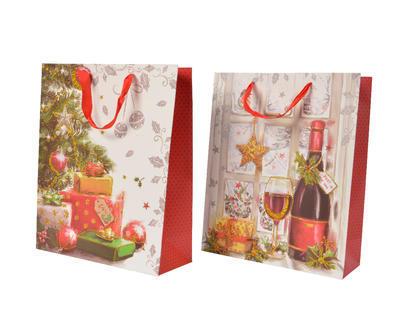 Vánoční taška dárková - XMAS CLASSIC 24 cm, Kaemingk