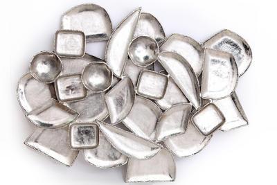 Nástěnná dekorace ZEN, stříbrná, 101x81cm, Sifcon