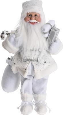 Vánoční dekorace SANTA bílý, 45cm, Koopman