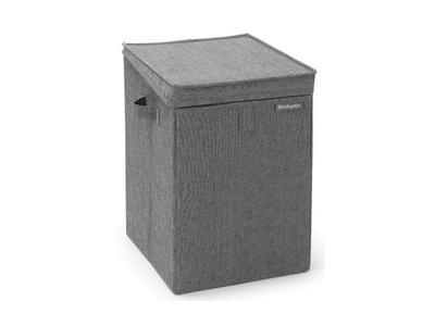 Stohovatelný koš na prádlo 35l, tmavě šedý melír, Brabantia        - 1