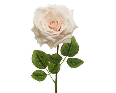 Květina RŮŽE, 15x53cm, bílá, Kaemingk