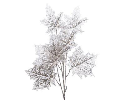 Větvička stříbrných listů, 47x7x85cm, Kaemingk
