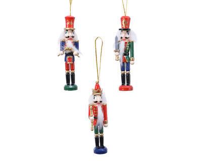 """Vánoční ozdoba """"Louskáček"""", 4x3x12,5cm, 3 assort, dřevěný"""