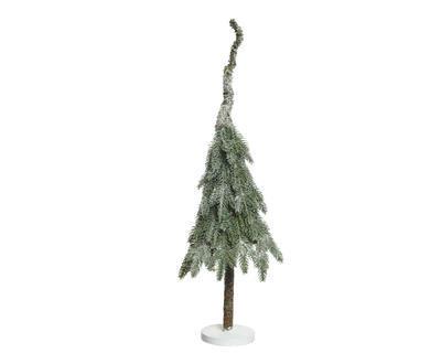 Mini stromeček - zasněžený, 10x10x35cm, zeleno/bílý