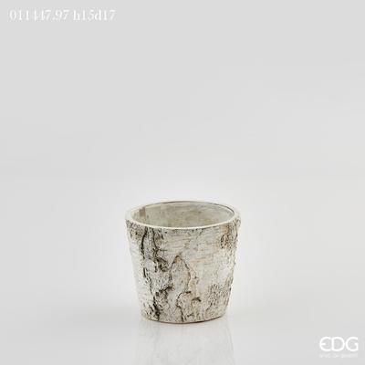 Váza CEMENTO TRONCO 15 cm - sv. šedá, EDG