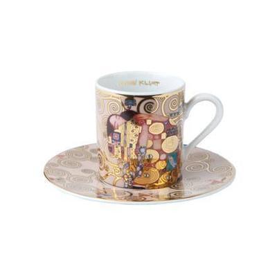Šálek a podšálek espresso ARTIS ORBIS G. Klimt - Fulfilment  - 100 ml, Goebel