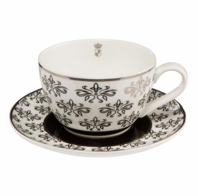 Šálek a podšálek na čaj ATELIER CHÂTEAU - Floral - 250 ml, Goebel