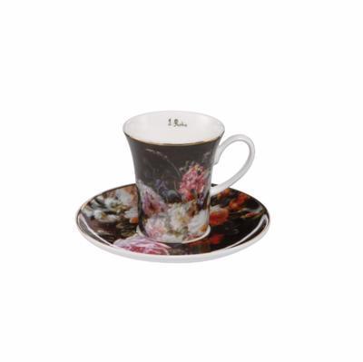 Šálek a podšálek espresso ARTIS ORBIS J.B. Robie - Still Life with Roses - 100 ml, Goebel