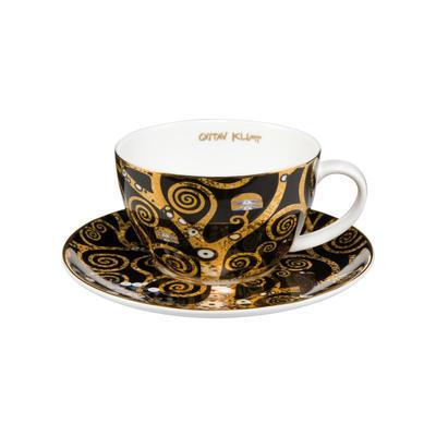 Šálek a podšálek na čaj/cappuccino ARTIS ORBIS G. Klimt - Tree of Life - 250 ml, Goebel