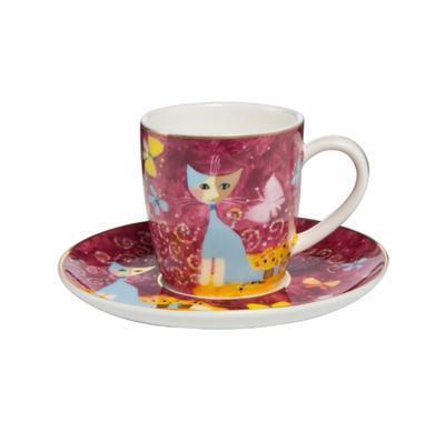 Šálek a podšálek espresso ROSINA`S CATS - Sogno di farfalle - 100 ml, Goebel