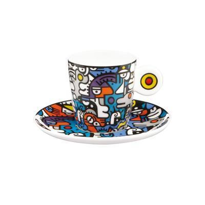 Šálek a podšálek espresso POP ART B. Artist - Casual Conversation - 100 ml, Goebel