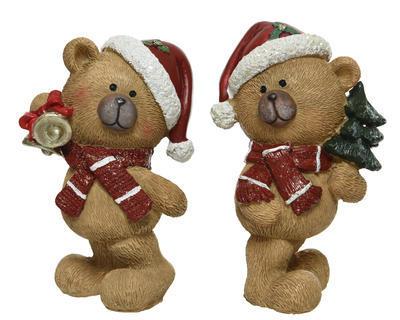 Vánoční dekorace - Medvídek 15 cm - hnědá, Kaemingk