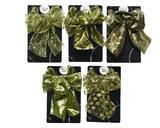 Vánoční dekorace - Mašle ORNAMENT zelená 11x15 cm - 5 druhů, Kaemingk - 1/2