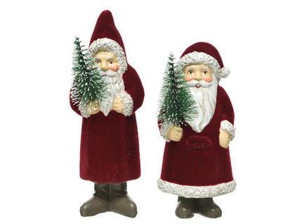 Vánoční dekorace - Santa se stromečkem XMAS 12/15 cm, Kaemingk