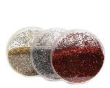 Vánoční dekorace - Krabička se třpytkami 6 cm - červená/zlatá/stříbrná, Kaemingk - 1/2