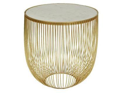 Dekorativní přídavný stolek, cca 41x46cm, zlatý, Kaemingk