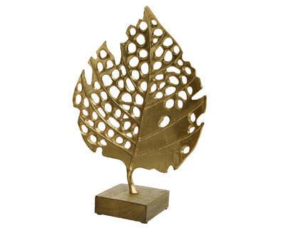 Dekorace LIST, 44x32x12cm, zlatá, Kaemingk