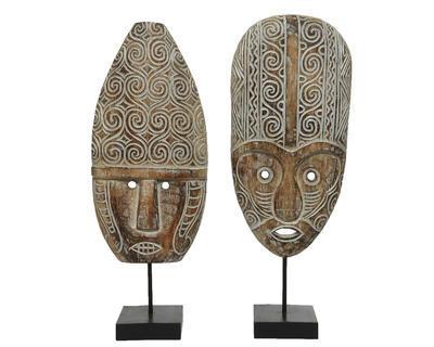 Dekorace MASKA, 21x56cm, antik, 2 druhy, Kaemingk - 1