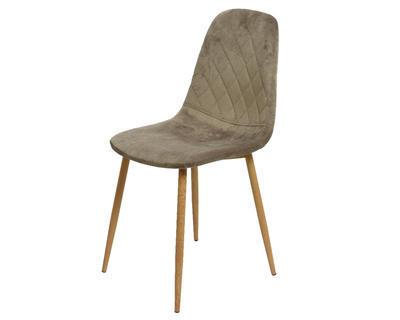 Židle jídelní VELVET 44x47x87cm - šedá, Kaemingk